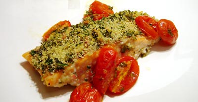 Krokante zalm &copy, La Cucina