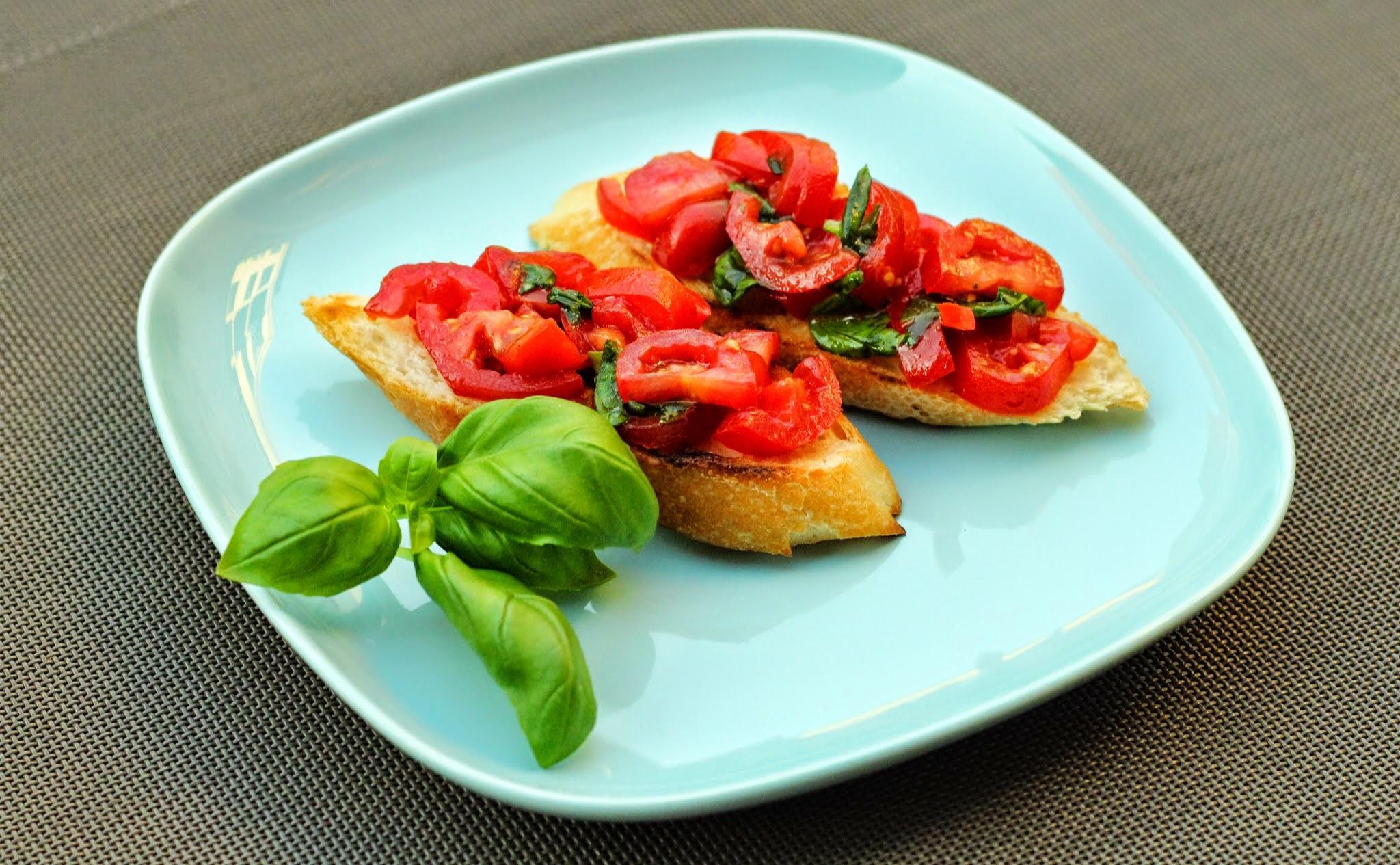 Bruschette met tomaat