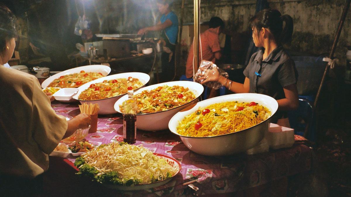 Thaise straatmarkt